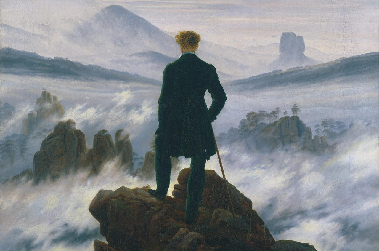 Caspar David Friedrich - Wanderer über dem Nebelmeer (1817)
